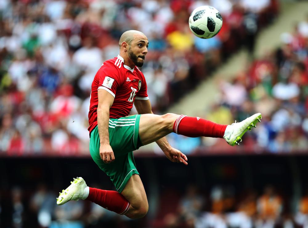 Nordin Amrabat in full flight against Portugal.