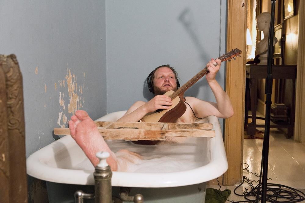 Ragnar Kjartansson in his 2012 video installation, The Visitors.