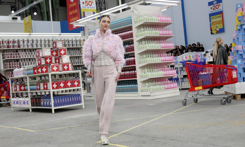 The Chanel supermarkets how, 2014, now the stuff of fashion legend.