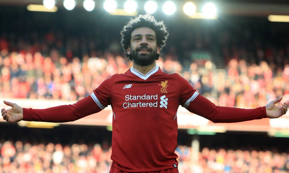 Mohamed Salah has scored a record 32 Premier League goals in a single 38-game season.