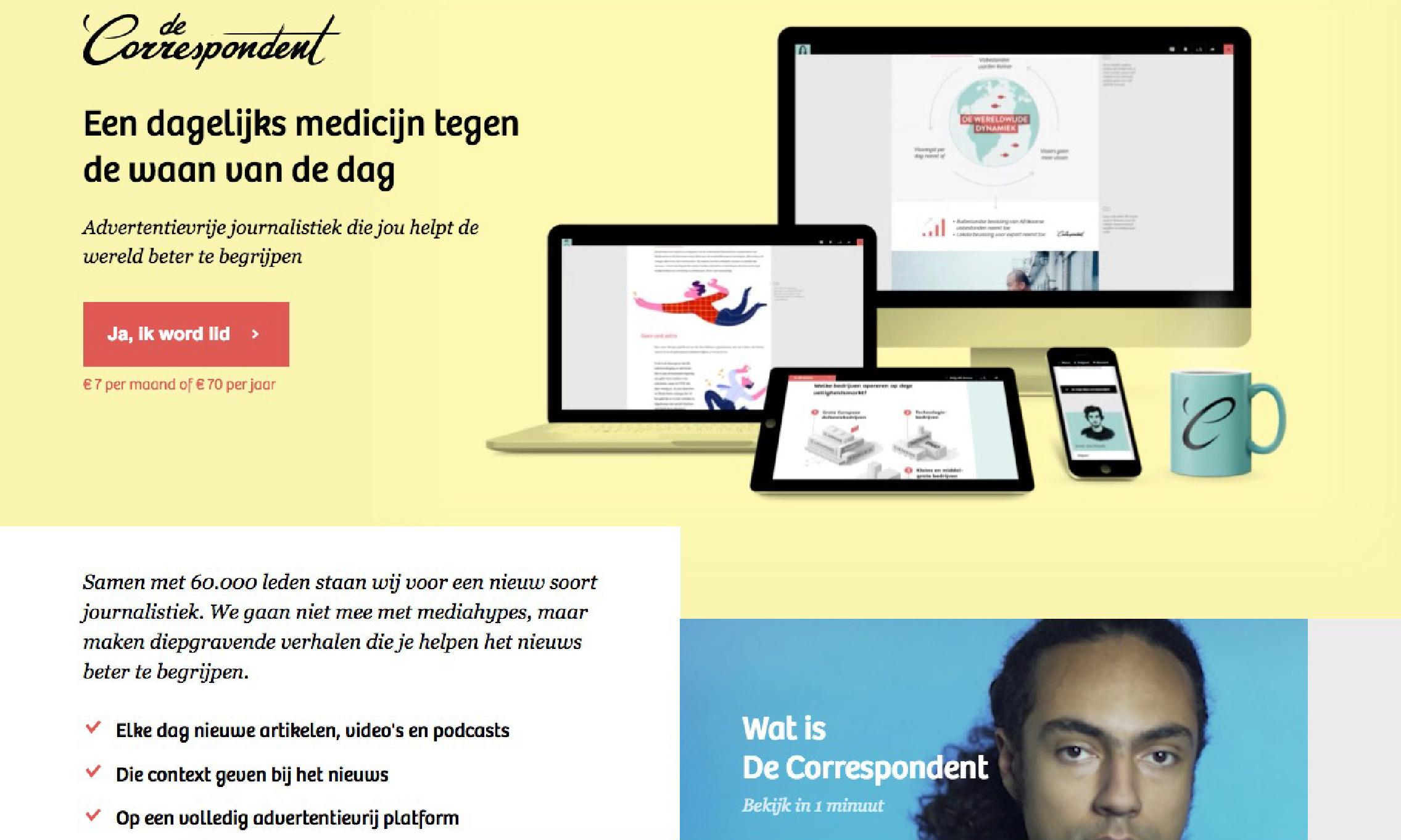 The Correspondent: crowdfunded news site prepares to launch English version