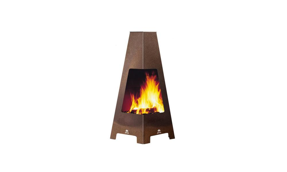 Terrazza outdoot modern chiminea, Jøtul at Fireplace Products