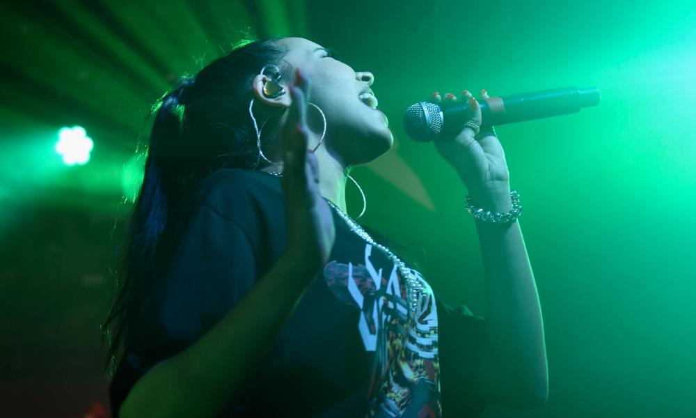 US singer Tinashe on stage at SXSW last year.