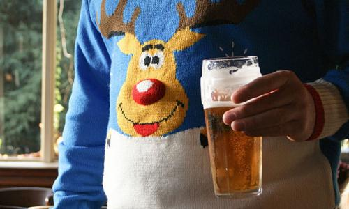 a Christmas jumper
