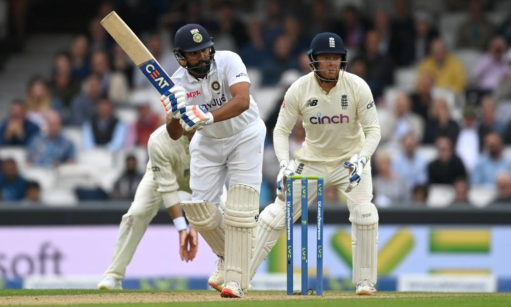 Rohit Sharma punishes England on day three of the fourth Test at the Oval, his 127 setting the platform for victory and a 2-1 series lead.