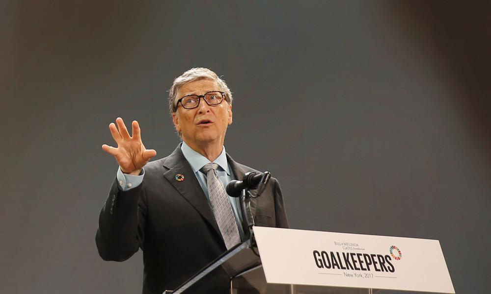 Bill Gates speaks at Gates Foundation Goalkeepers event in New York.