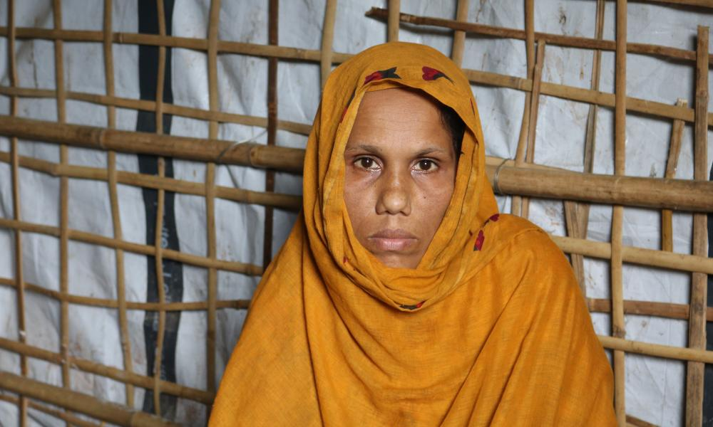 Anuwara, who fled her village Merulla in Rakhine state last year after armed men killed her husband.