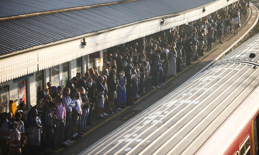 Commuters at Clapham Junction station