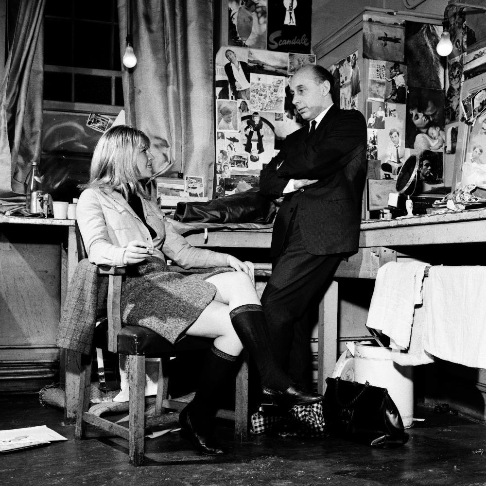 Donald Zec interviewing the actor Julie Christie in Birmingham, 1963.