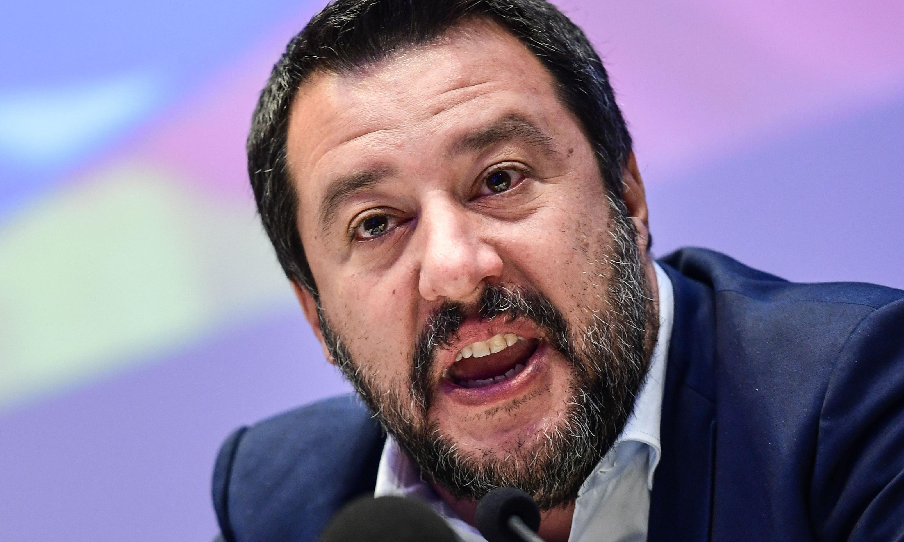 Salvini 'crossed red line' with refugee boat policy, says military