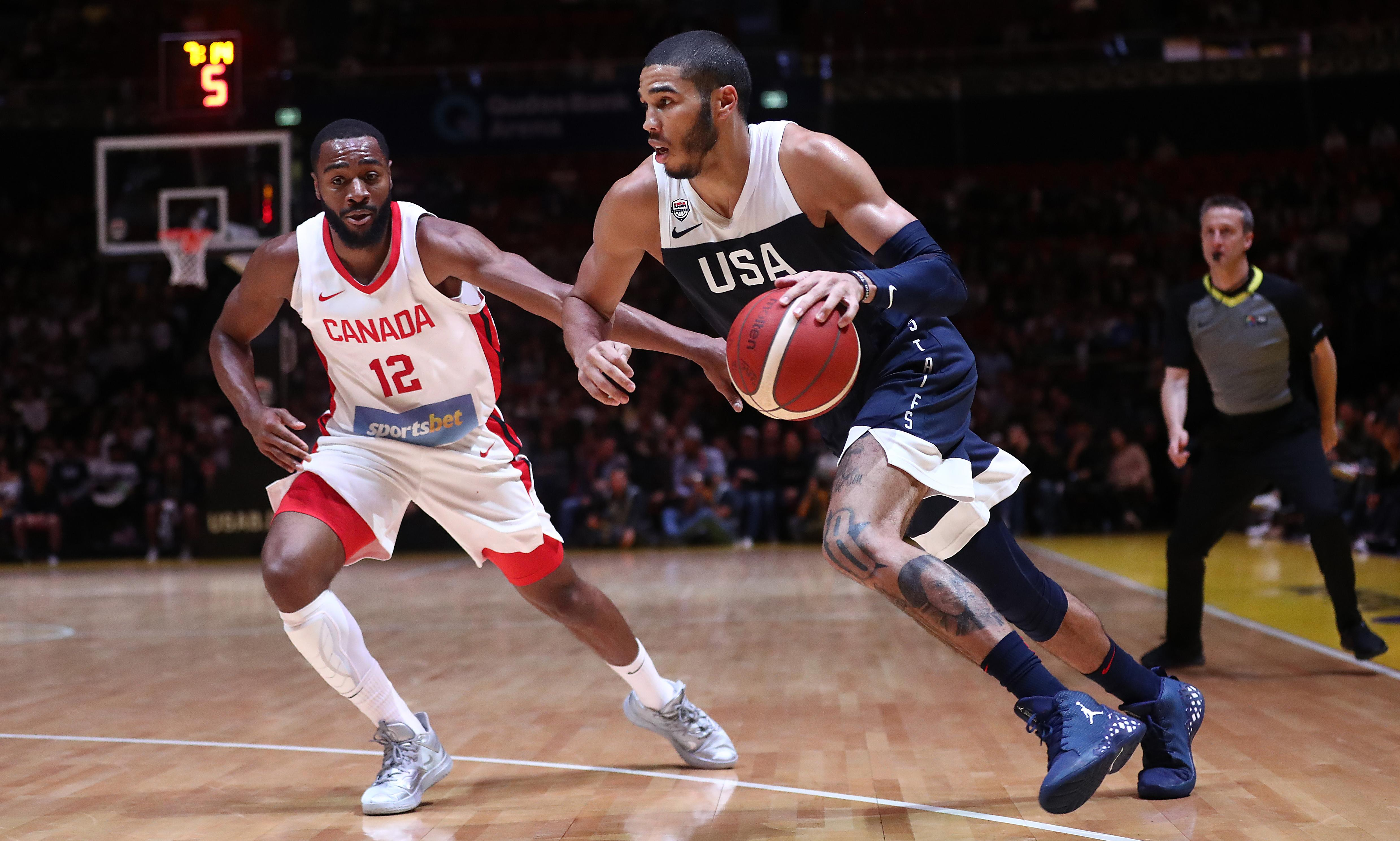 USA rebound from rare loss to defeat Canada in final Fiba World Cup tune-up