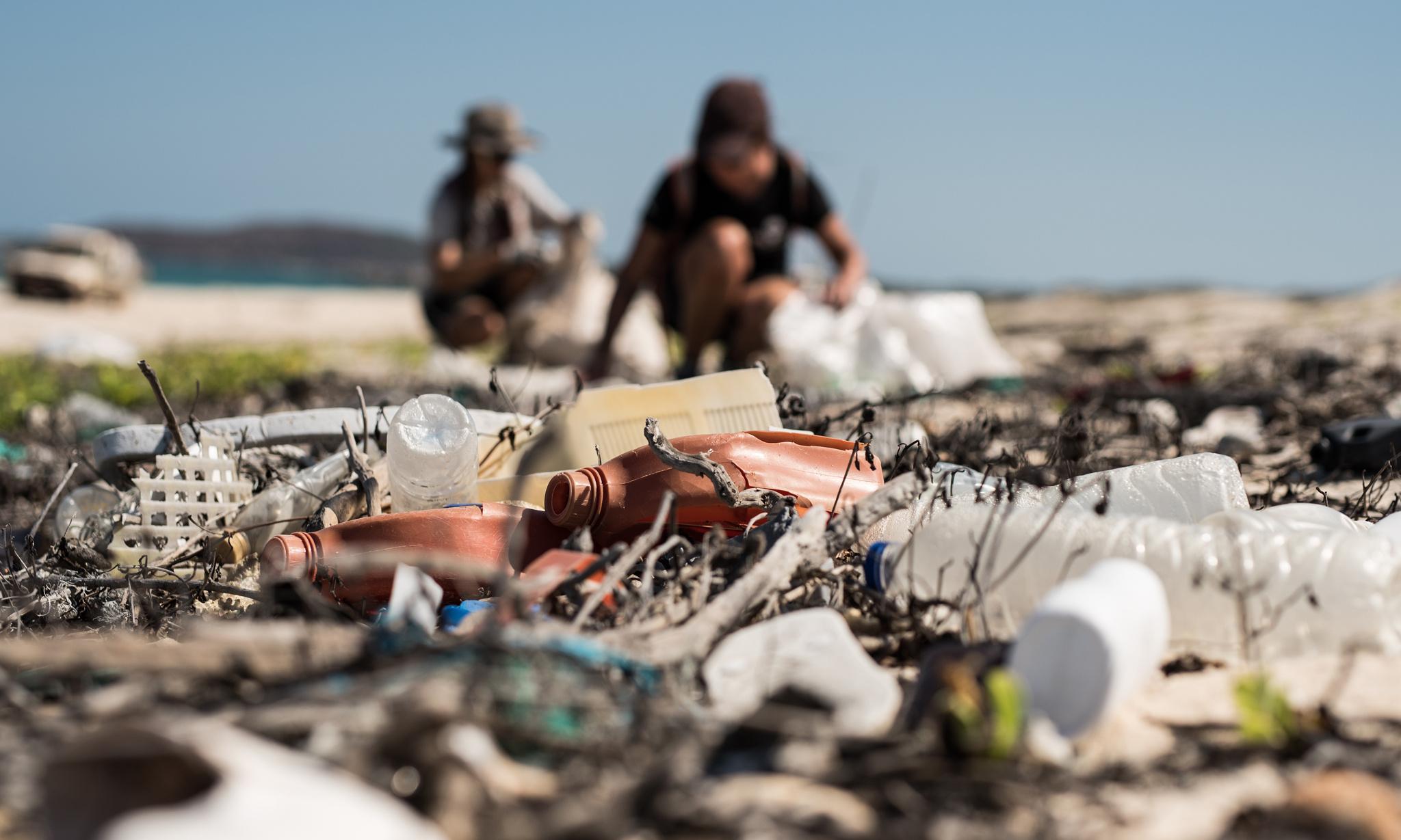 Seven tonnes of marine plastic pollution collected on remote Arnhem Land beach