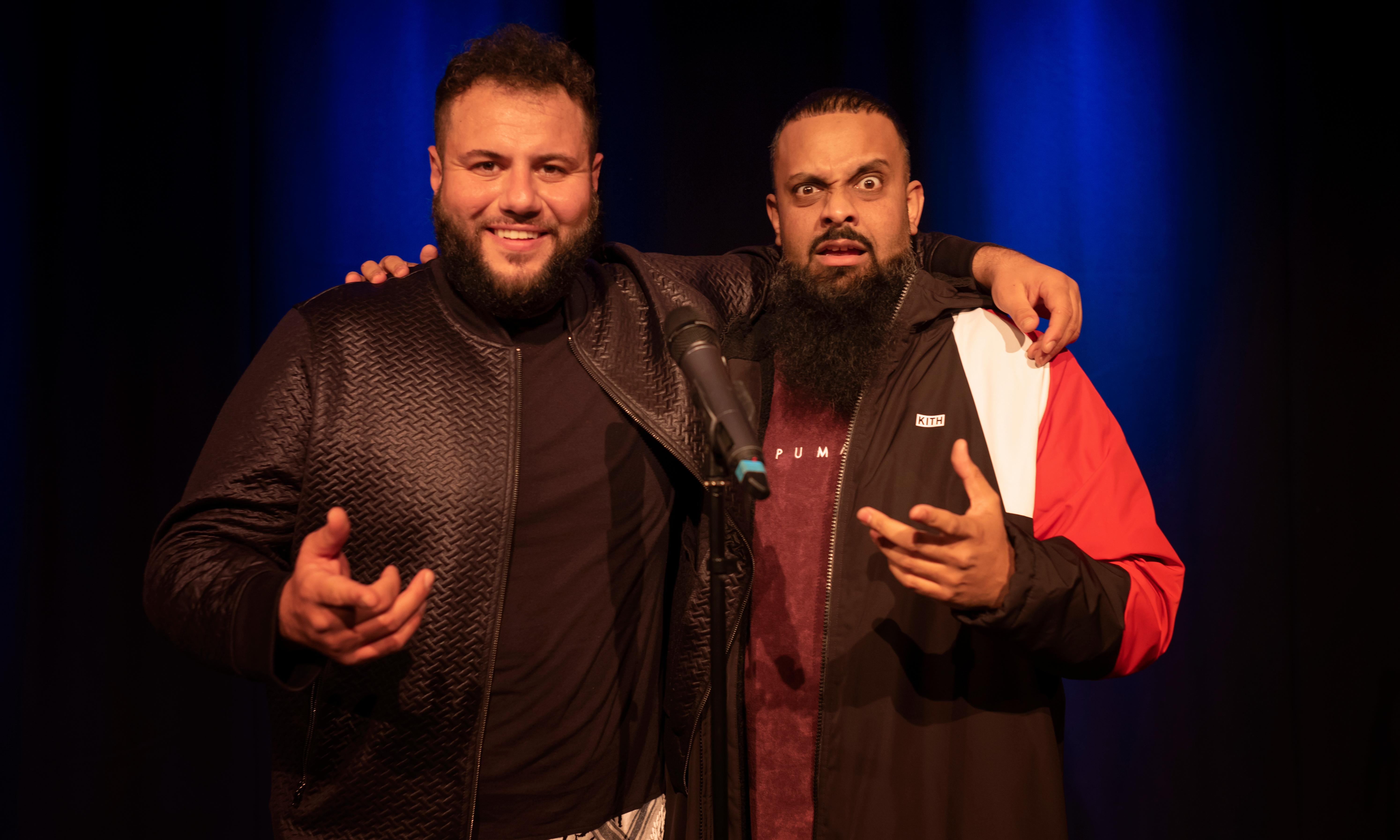 Mo Amer and Guz Khan review – hip-hop and hummus in a double dose of funny
