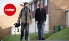 Journalist John Harris and film-maker John Domokos in Frome, Somerset