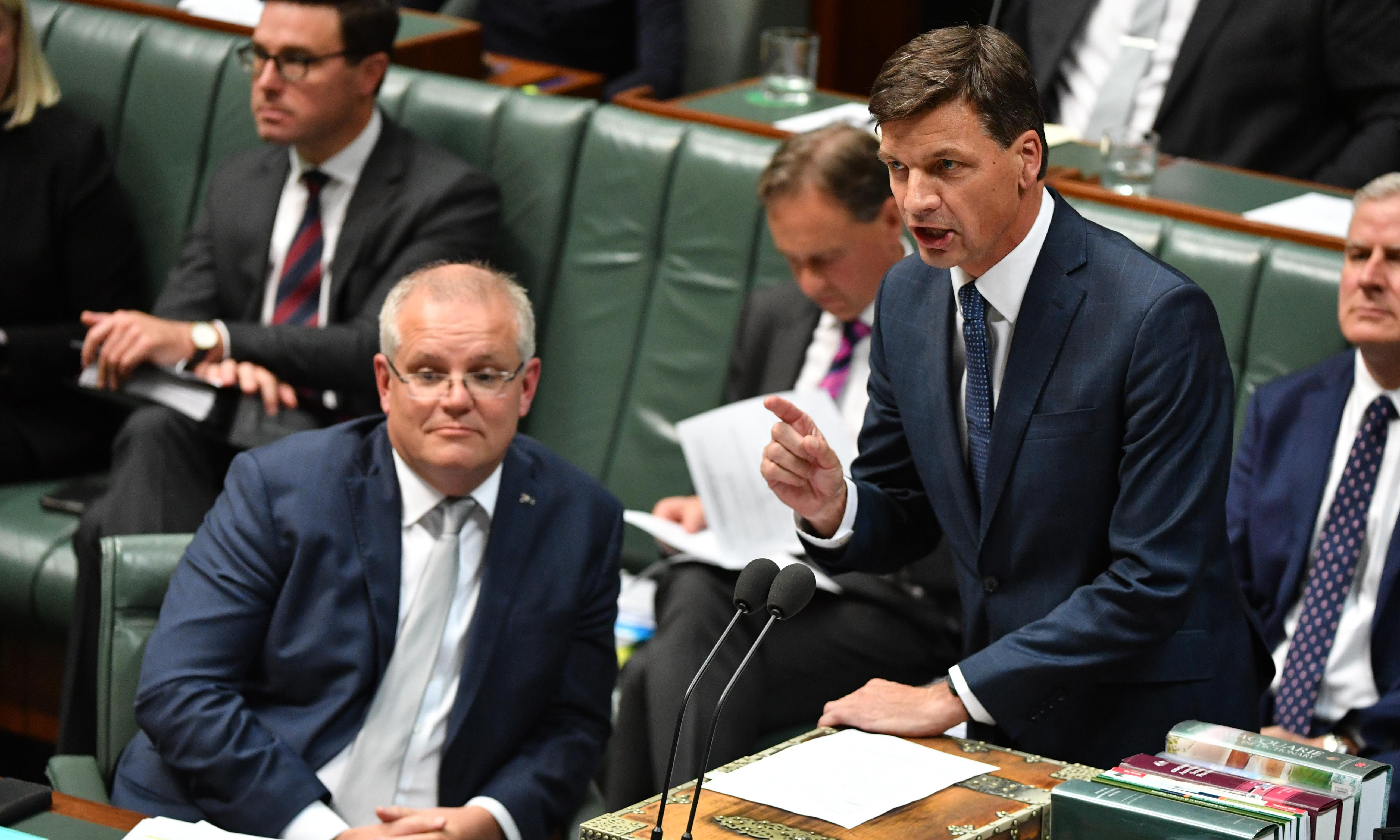Angus Taylor says he has 'point of contact' with police but stays silent on metadata