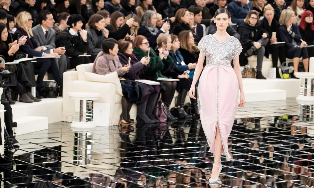 A model presents a creation the Chanel collection.