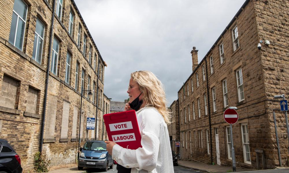A Labour activist canvassing in Batley before the byelection