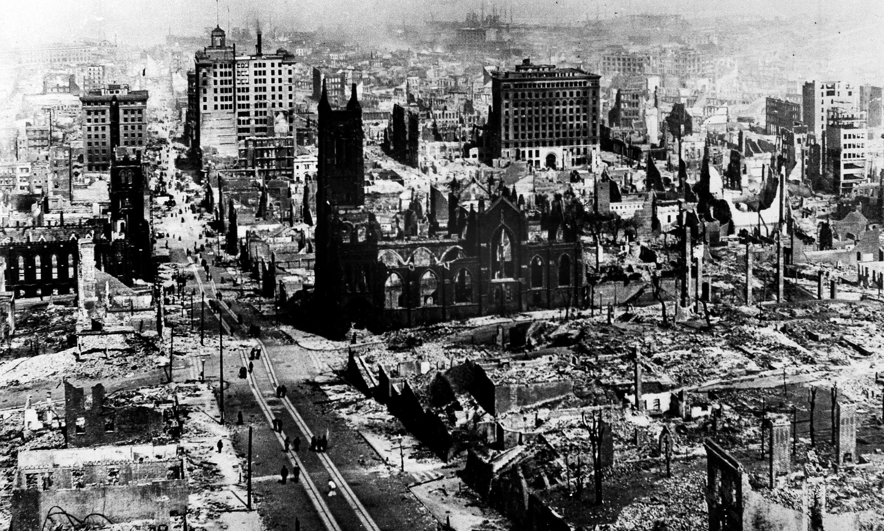 San Francisco destroyed by earthquake – archive, 19 April 1906