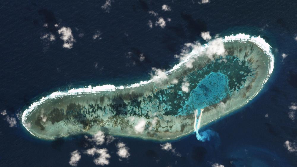 Ladd Reef, in the Spratly Island group in the South China Sea