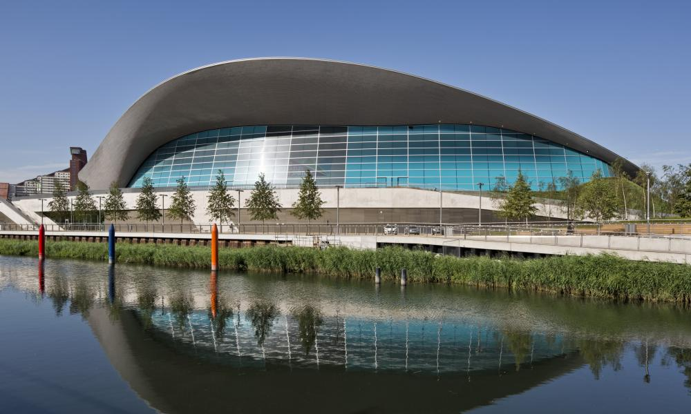 London aquatics centre.