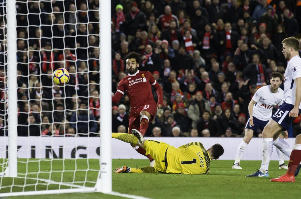 Salah scores his second to put Liverpool back in front.