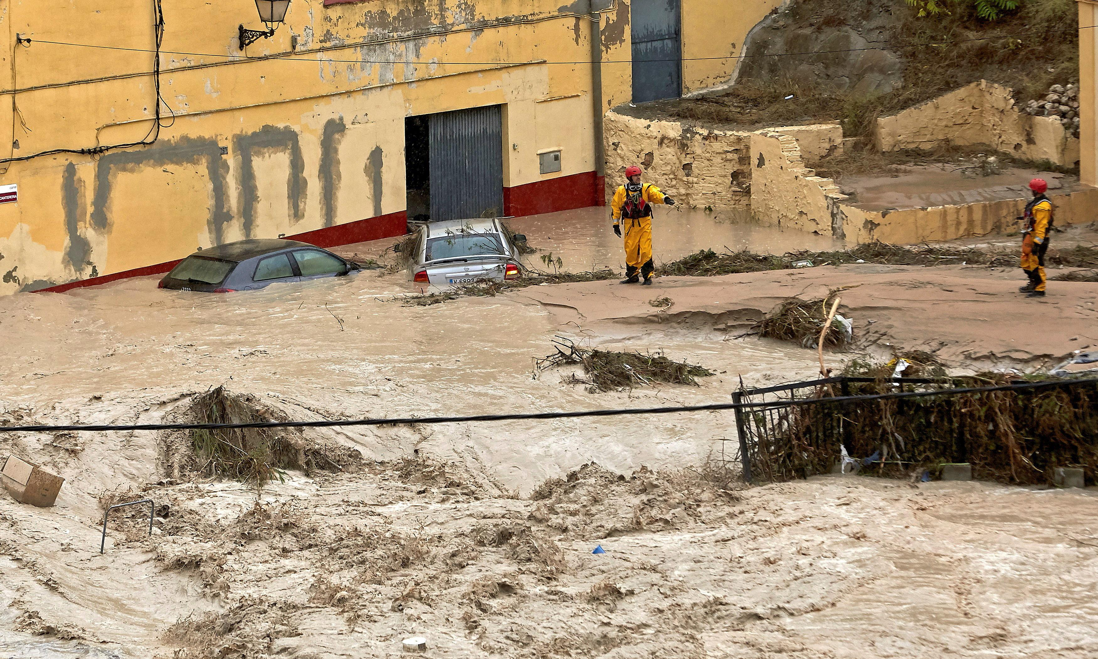 Storm brings heaviest rainfall on record to parts of eastern Spain
