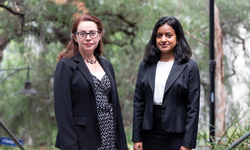 Asylum Seeker Resource Centre lawyers Carolyn Graydon and Rachel Saravanamuthu.