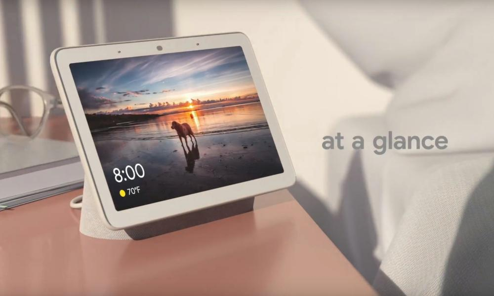 Die Google-Startseite Hub Smart Display.