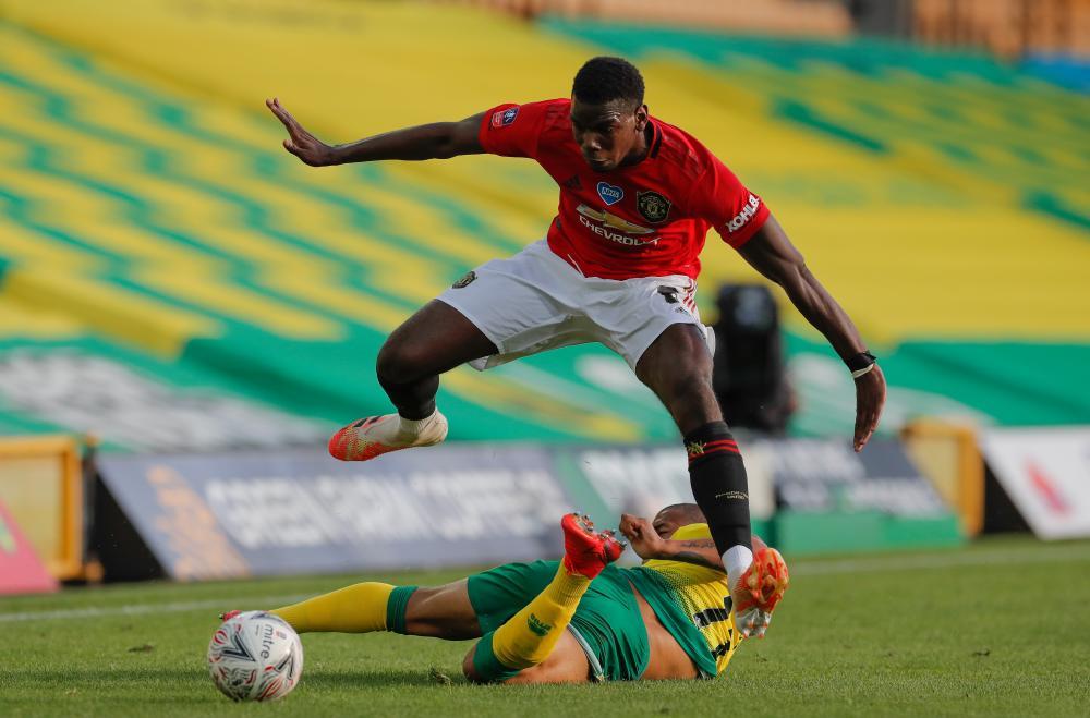 Paul Pogba skips a challenge.