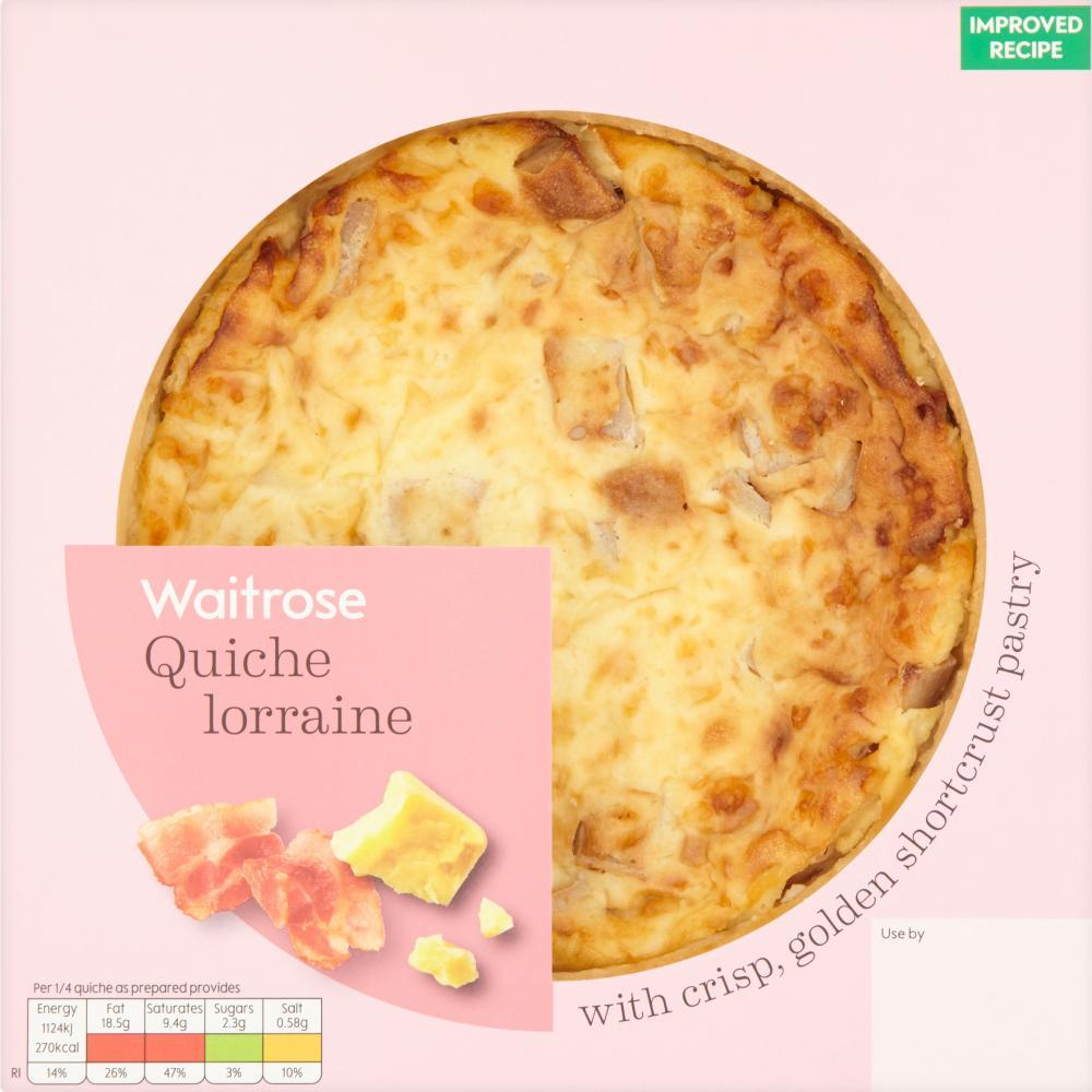 Waitrose's quiche lorraine. Pale and uninteresting.