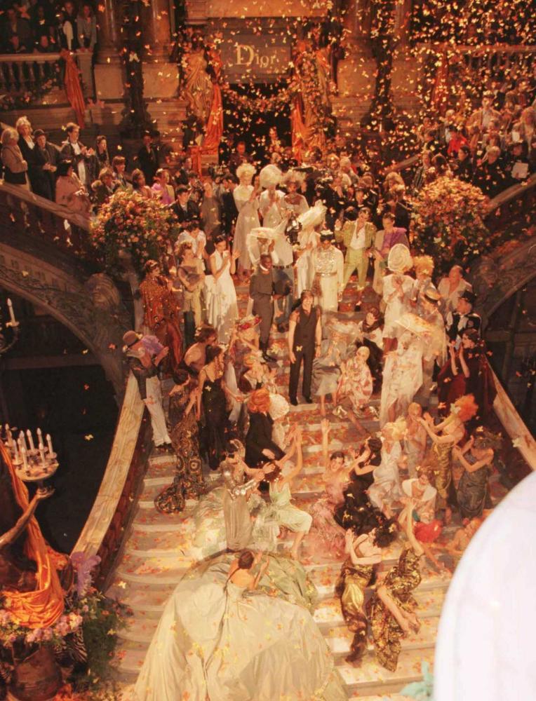 Galliano's haute couture show for Dior at the Opera Garnier in Paris, 1998.