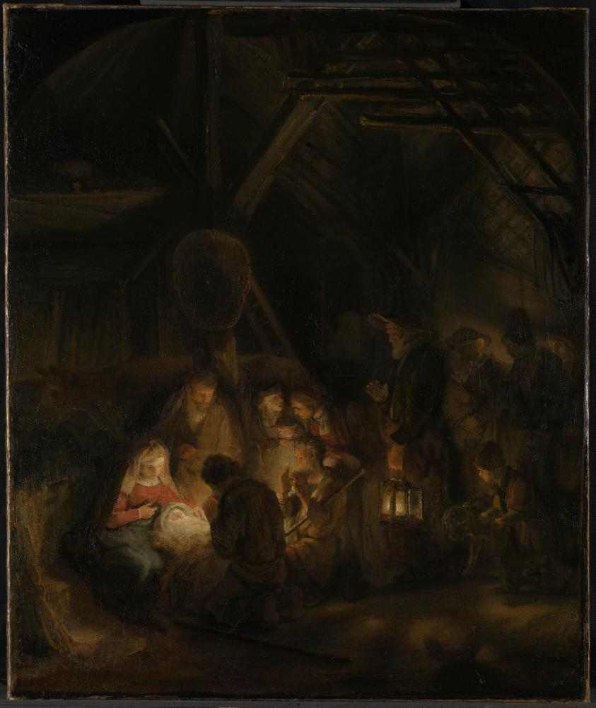 Rembrandt, Pupil of (1606 - 1669) The Adoration of the Shepherds, 1646