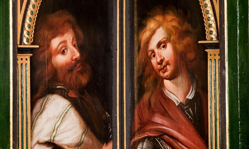 It is thought that portraits in the corner of one room could be based on William Cavendish and his brother, Charles.