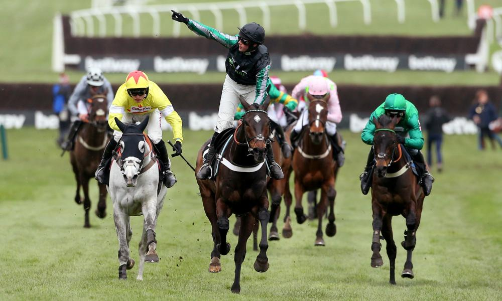 Altior, ridden by Nico de Boinville, wins the Queen Mother Champion Chase at the 2019 Cheltenham Festival.