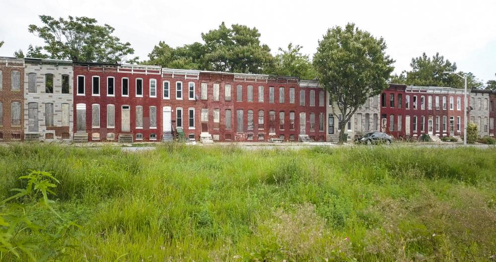 Abandoned properties in Baltimore's Oliver neighbourhood.