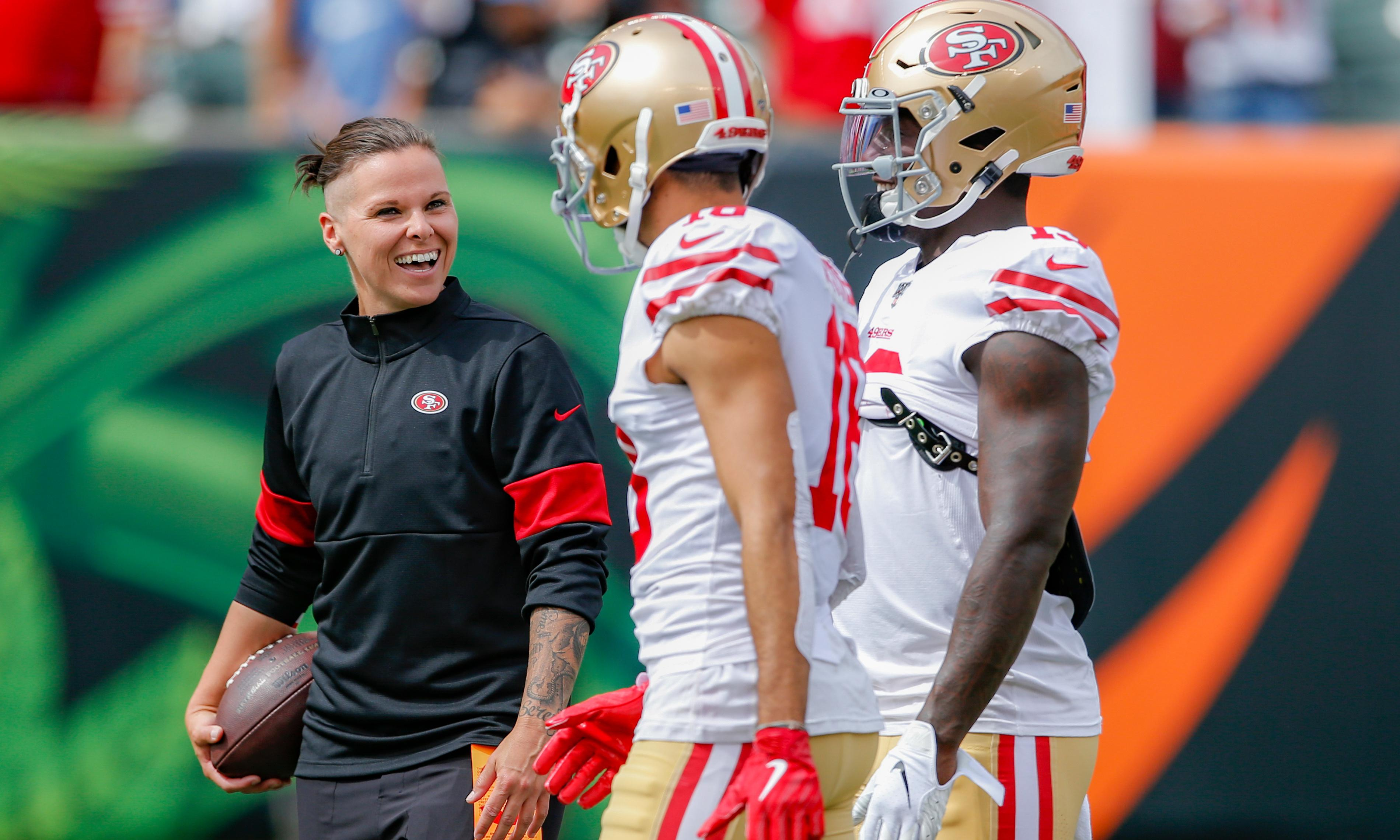 Katie Sowers: 'The 49ers didn't hire me as a coach to make a point'
