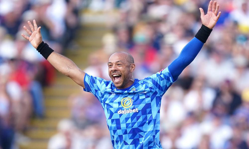 Sussex's Tymal Mills during the Vitality Blast finals day last month.