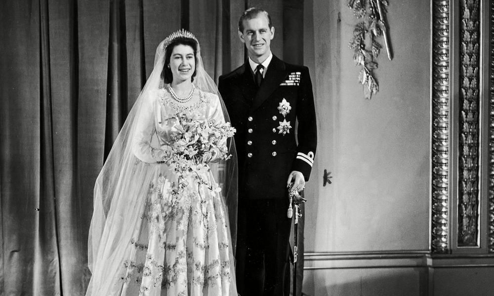 The wedding of Queen Elizabeth II and Prince Philip at Westminster Abbey on 20 November 1947.
