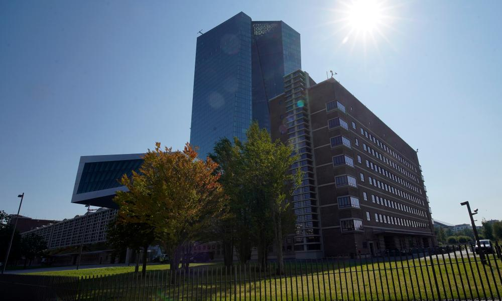 The European Central Bank headquarters in Frankfurt.