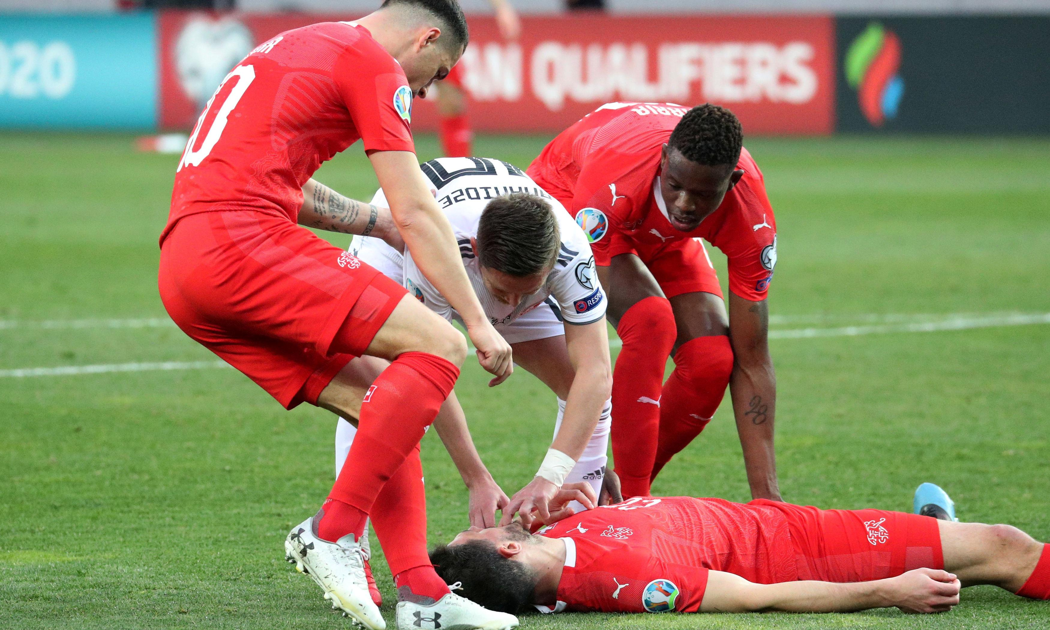 'Dereliction of duty': Fabian Schär plays on for Swiss after being knocked out