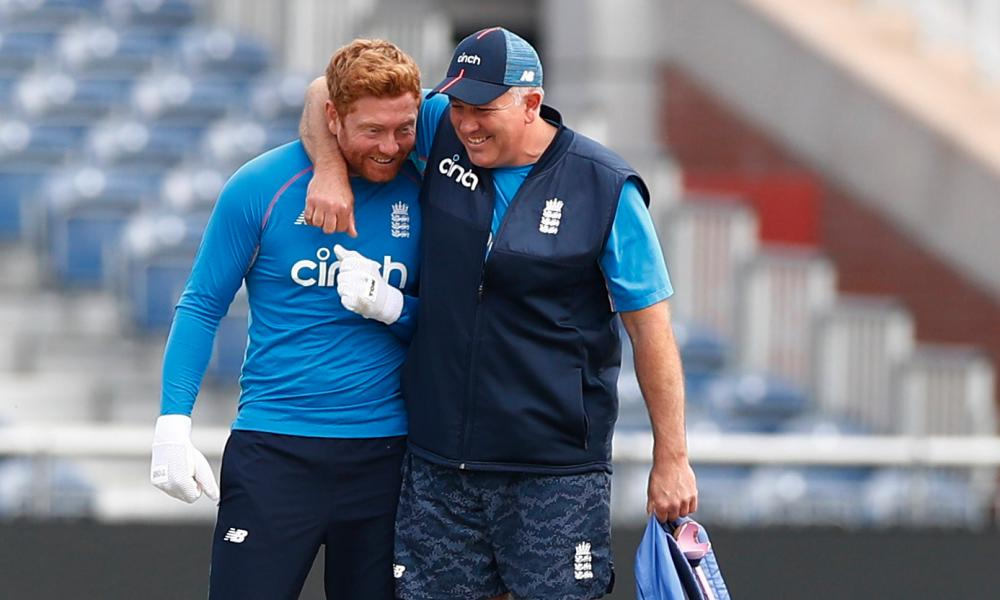 Jonny Bairstow (left) is the only other recognised wicketkeeper in Chris Silverwood's squad alongside Jos Buttler.