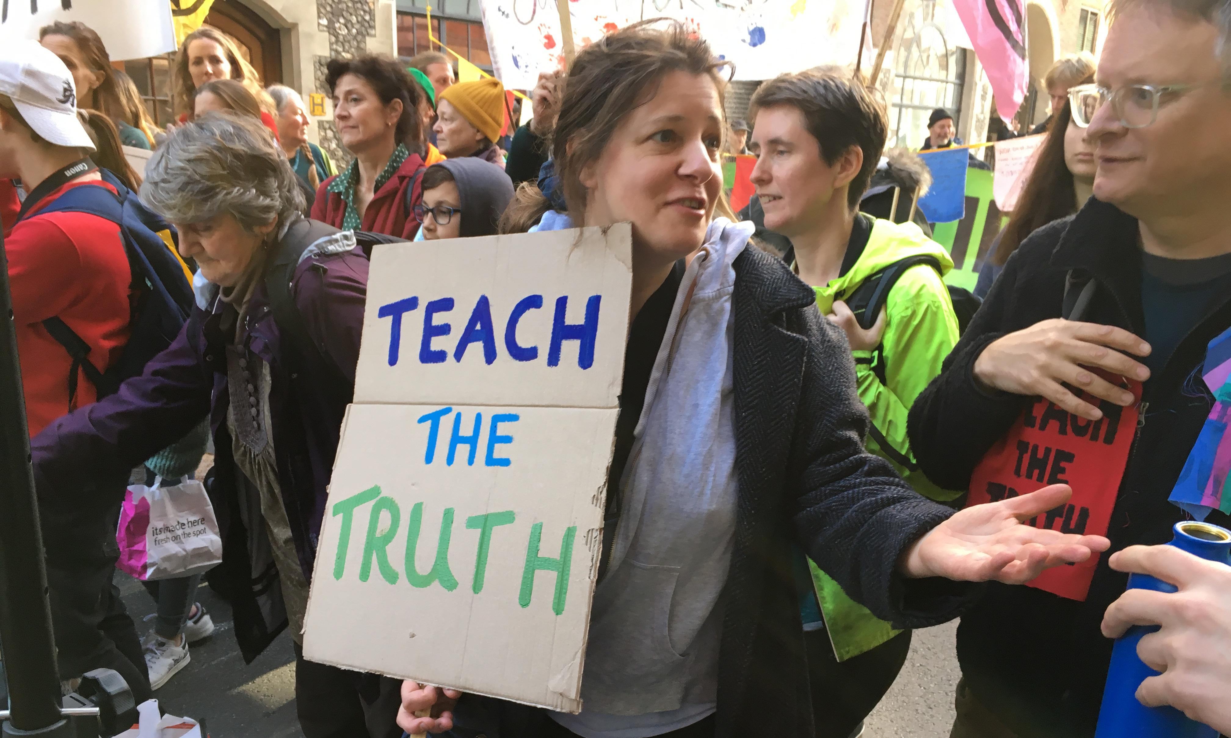 Teachers and students stage mock climate classes in Whitehall