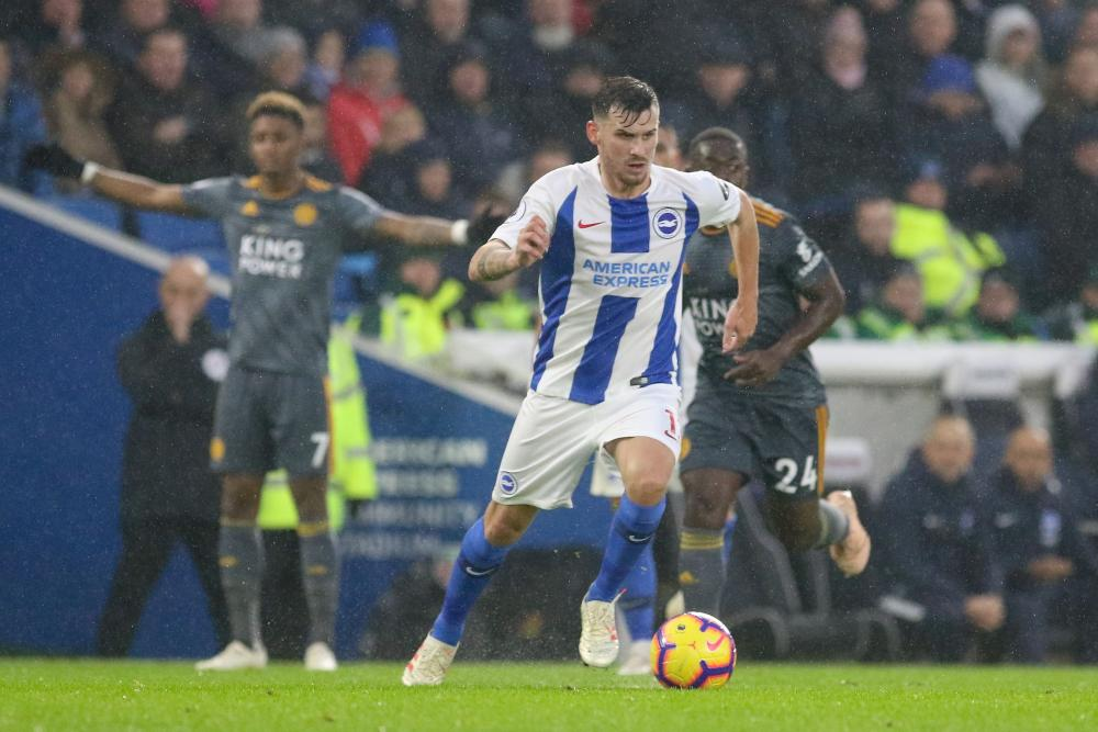 Pascal Gross in action for Brighton.