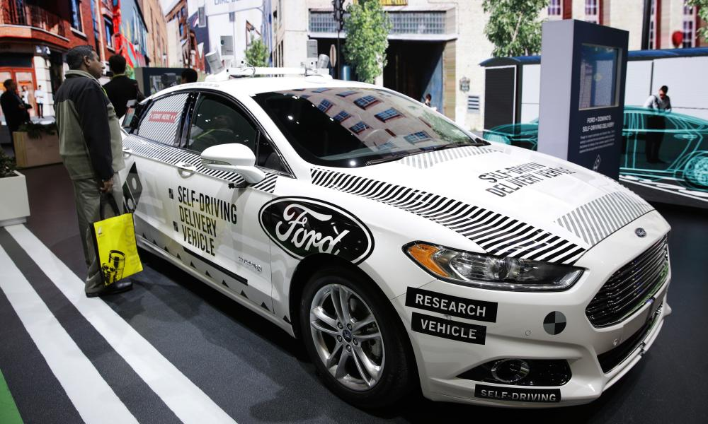Ford exhibited self-driving delivery vehicle at CES 2018 this week. The vehicle was a modified Ford Fusion, the same model involved in the Pittsburgh crash.