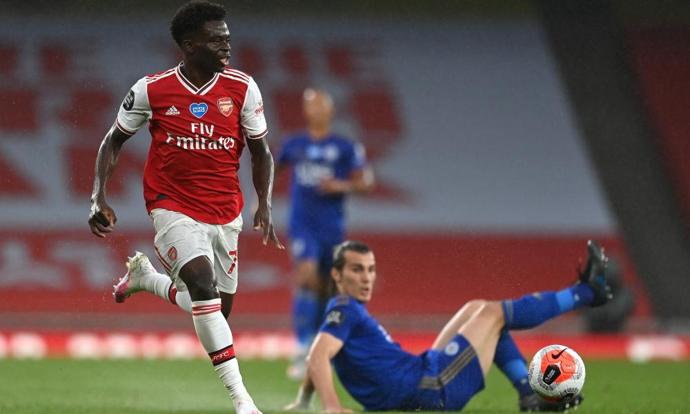 The form of the versatile 18-year-old Bukayo Saka has been a big boost for Arsenal, as has the player's decision to commit his future to the club last week.