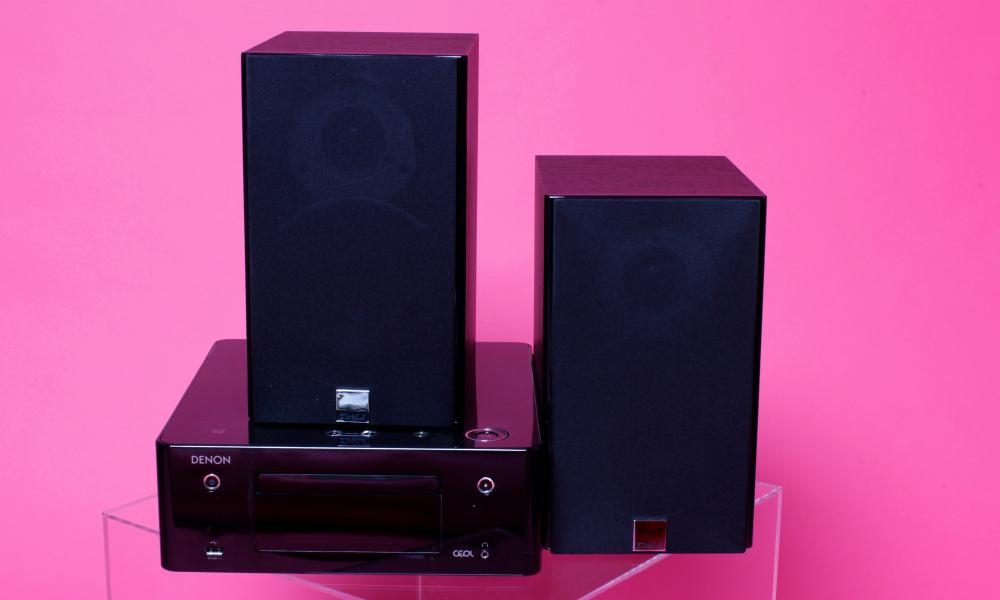 Versatile: the Denon Ceol with Dali Zensor speakers.