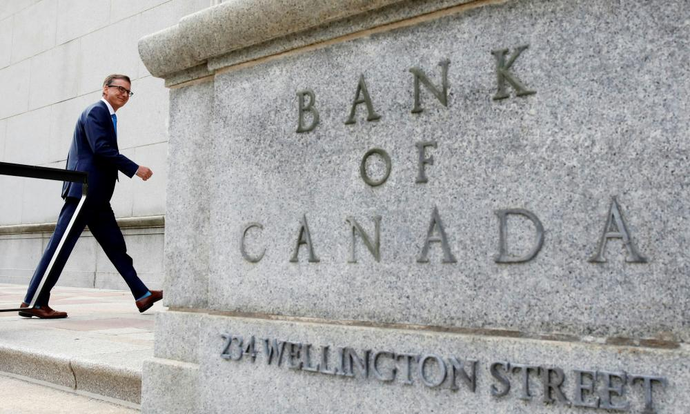 Governor of the Bank of Canada Tiff Macklem outside the BoC building in Ottawa, Ontario.