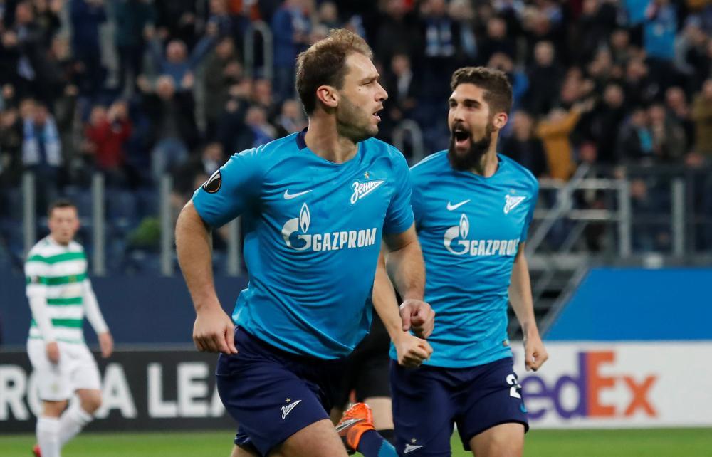 Ivanovic celebrates scoring that early goal to level the tie.