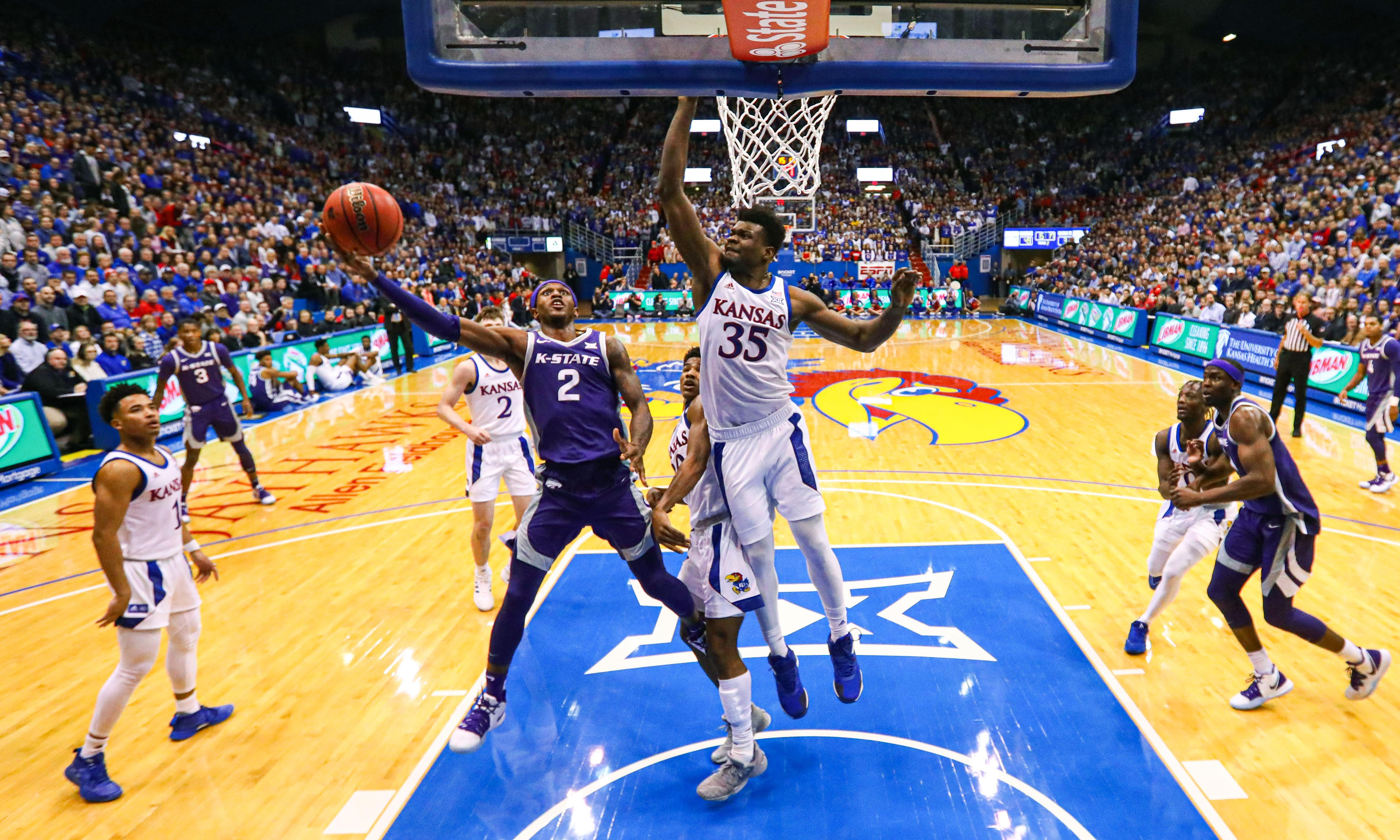 Kansas-Kansas State college basketball rivalry game ends in massive brawl