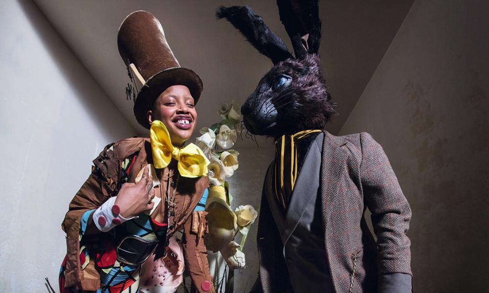 The Rabbit and the Mad Hatter in the 2018 Pirelli calendar